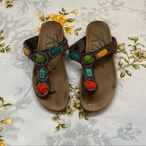Rebels Beaded Jeweled Sandals